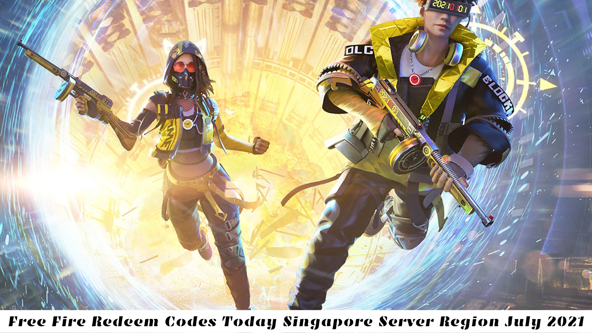 Free Fire Redeem Codes Today Singapore Server Region 25 July 2021